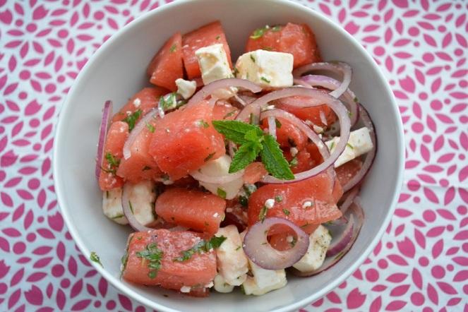 Watermeloensalade met feta en munt.JPG