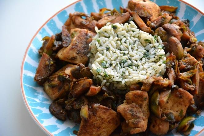 kip-met-spruitjes-en-rijst