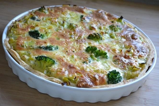 Quiche van prei en broccoli