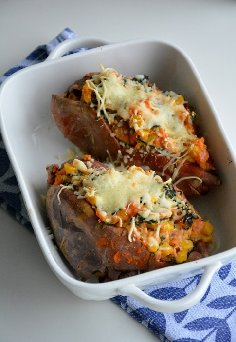 Gevulde zoete aardappel (1)