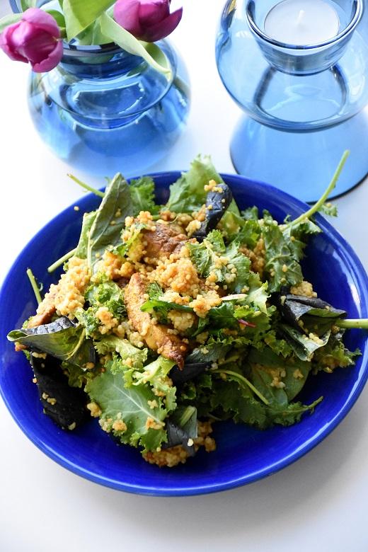 Varkensreepjes met boerenkool en couscous