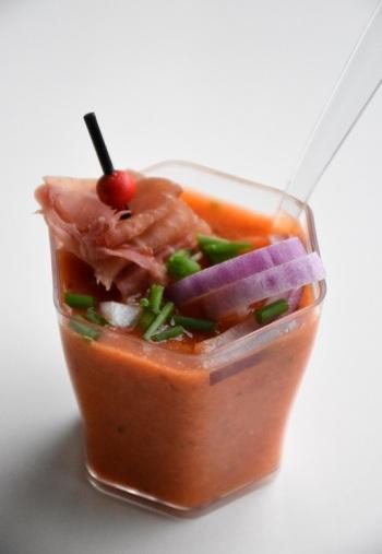 Gazpacho van paprika en komkommer (1)