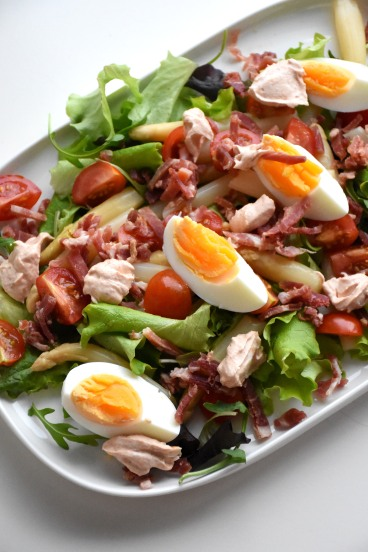 Slaatje met asperges, ham, tomaat en ei (2)