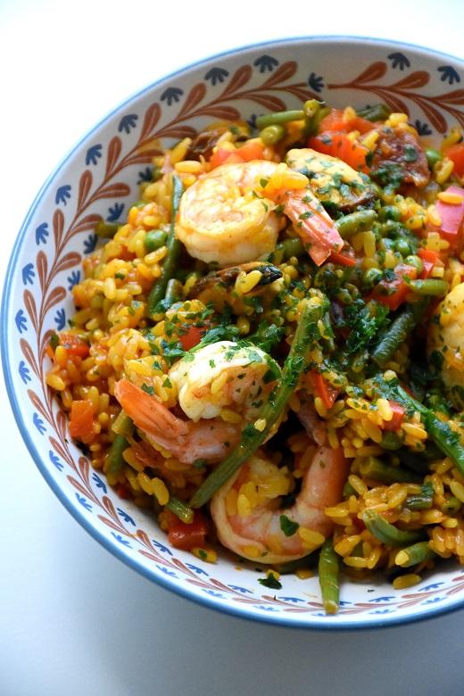 Paella met zeevruchten en chorizo (2)