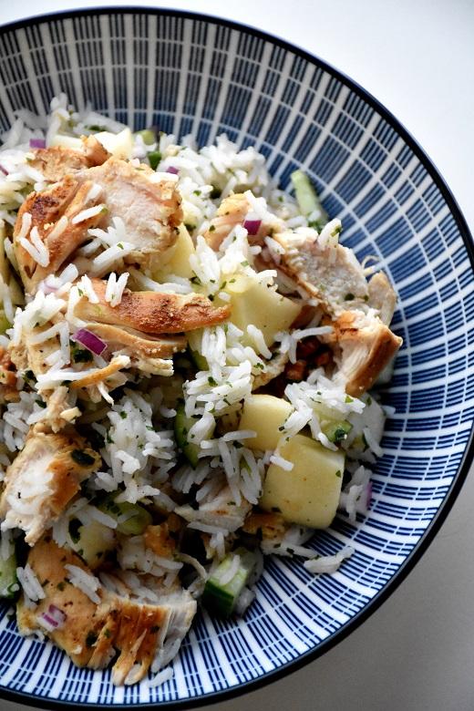 Rijst met kip en appel (1)