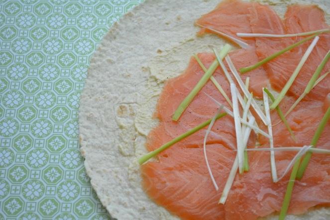 Wrap met zalm en mierikswortel
