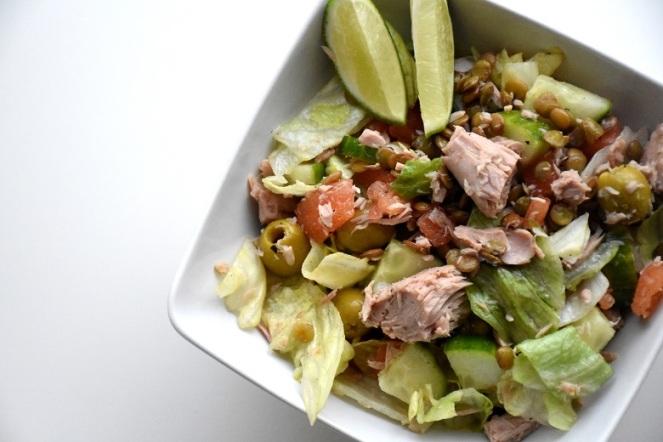 Zomerse salade met linzen