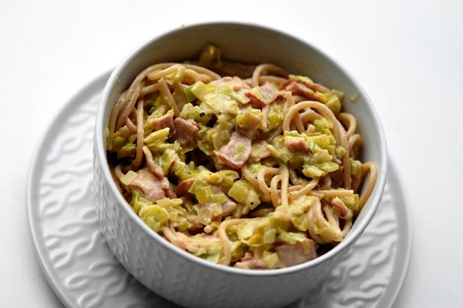 Spaghetti met spek en prei.JPG
