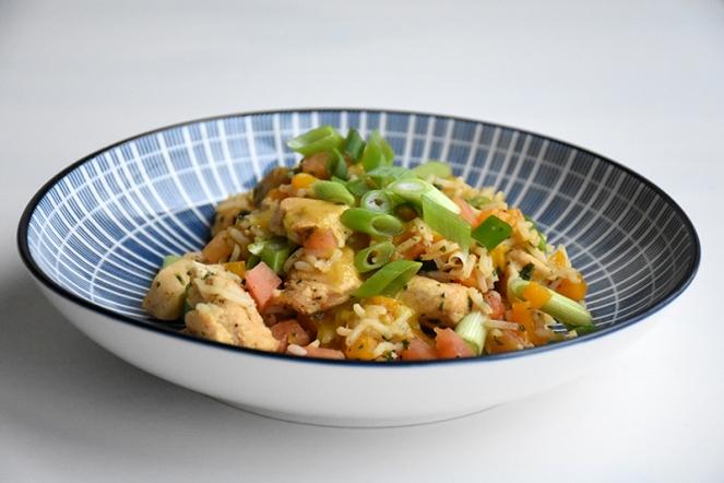 Kip met rijs en currysaus 2.0