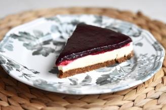 Panna cotta taart met rode vruchten (1)