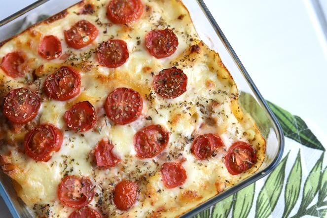 Pastaschotel met gehakt, tomaat en kaas
