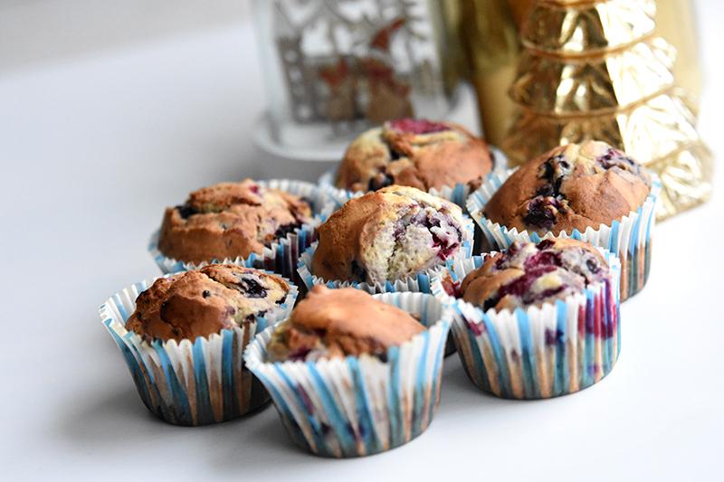 muffins met vruchten