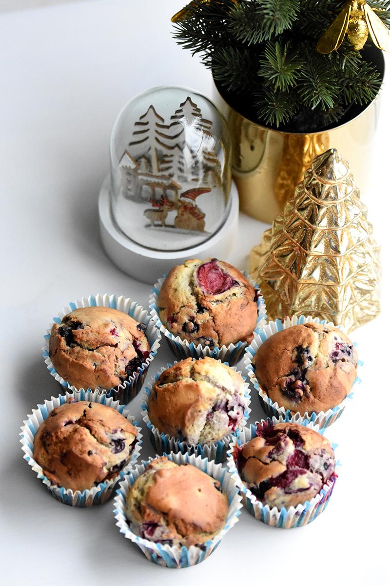 muffins met rode vruchten