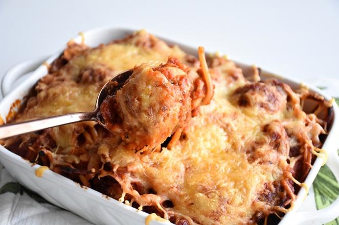Spaghetti met balletjes uit de oven (2)