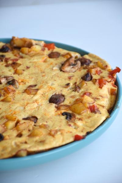 Tortilla met paprika en champignon (1)
