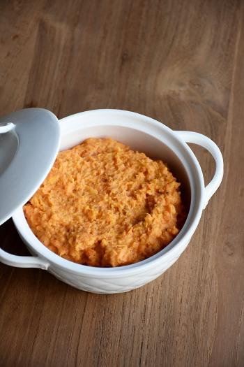 Zoete aardappelpuree met mascarpone